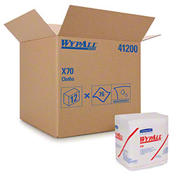 "WypAll® X70 1/4 Fold Extended Use Reusable Cloth - 12.5"" x 12"""