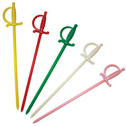 "Royal Assorted 4 1/2"" Plastic Sword Picks"