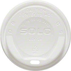 Solo® White Gourmet Lid® For Trophy® Plus™ - White