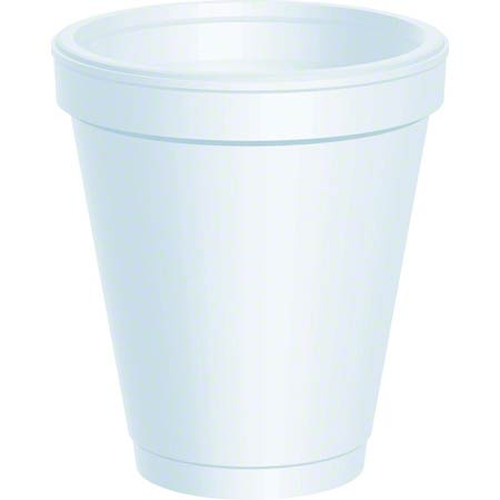 DART 6OZ FOAM CUPS, WHITE , 1000/CT