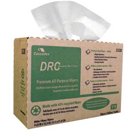 DRC WIPER WHITE 110/BX POP UP 12BX/CS
