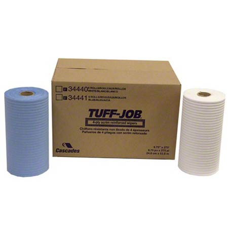 TUFF JOB SCRIM REINFORCED WIPER WHITE 275'/RL 6RL/CS