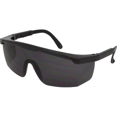 SAFETY ZONE ES-21 SMOKE LENSE SAFETY GLASSES WITH BLACK