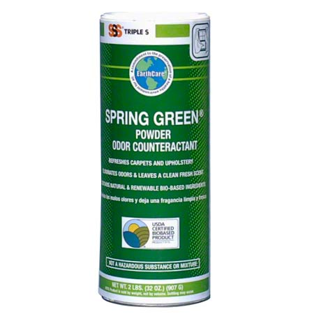 SSS SPRING GREEN POWDER ODOR COUNTERACTANT 2LB 6CS