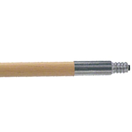 "SSS 60"" METAL TIP THREADED 15/16"" WOOD HANDLE 12CS"