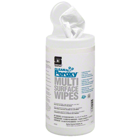 Spartan Clean by Peroxy® Multi Surface Wipes - 125 ct.
