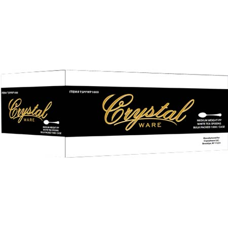 Crystal Ware Medium Wt. PP White Cutlery - Teaspoon