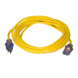 50' Lighted Extension Cord - Yellow