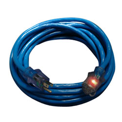 50' Lighted Extension Cord - Blue