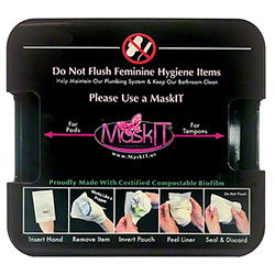 MaskIT® Wall Mounted Dispenser - Black