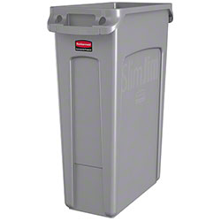 Rubbermaid® Slim Jim® Waste Cont. - 23 Gal, w/Vent, Gray