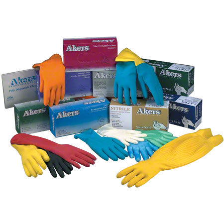 Akers Vinyl Powder Free Exam Glove - X-Large (9-9 1/2)