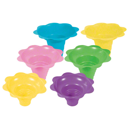 Berkley Square Flower Sno-Cone Cup - 4 oz., Assorted Colors
