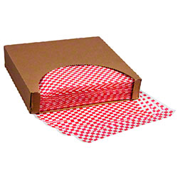 "12"" x 12"" Greaseproof Wrap - Red Check"