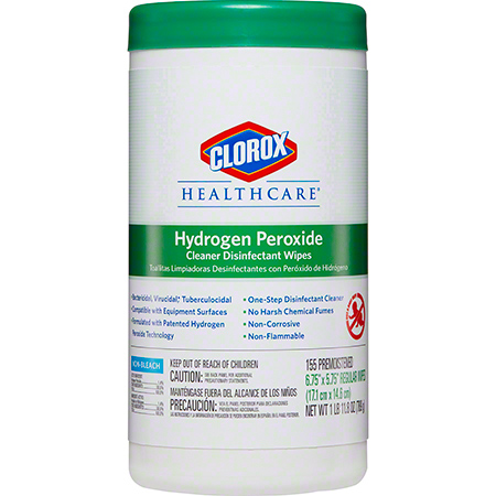 Clorox Healthcare® Hydrogen Peroxide Cleaner Disinfectant Wipe - 155 ct.