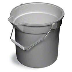 Continental Huskee Bucket w/Spout - 14 Qt., Grey
