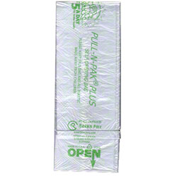 "Crown Poly Pull-N-Pak® 5 A Day Produce Bag - 15"" x 20"""