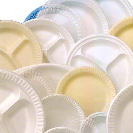 """Dart® Quiet Classic® Plate - 10 1/4"""" Cmpt., White"""