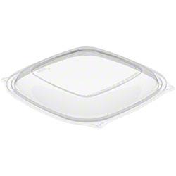Dart® PresentaBowls Pro™ Clear Square Bowl Lid-24-64 oz