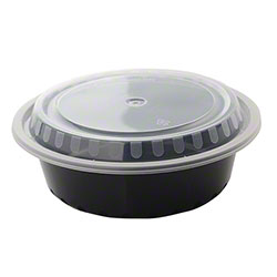 Fineline Settings Microwavable Round Containers w/Lids Combo - 32 oz.