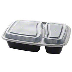 Fineline Settings ReForm™ Rectangular Bowl w/Lid - 32 oz., 2 Section