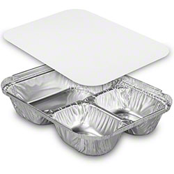 HFA® Oblong 3 Compartment Tray w/Lid