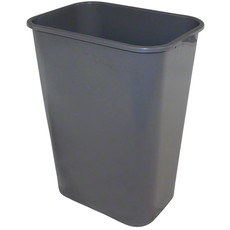 Impact® Rectangular Soft-Sided Wastebasket - 41 Qt., Gray