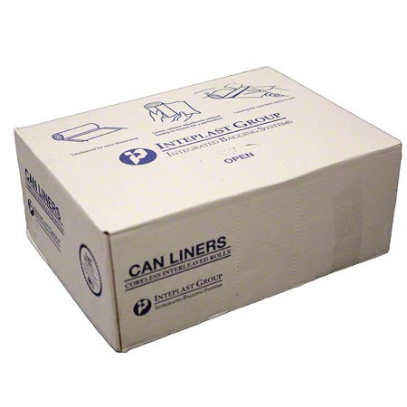 Inteplast Valu-Plus HDPE Can Liner - 43 x 46, 19 mic, Black