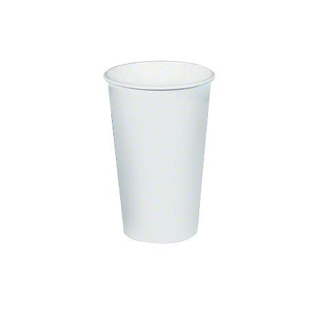 Solo® White Single Poly Paper Hot Cup - 16 oz.