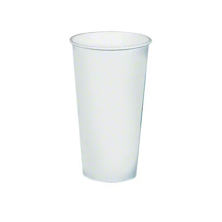 Solo® White Single Poly Paper Hot Cup - 20 oz.