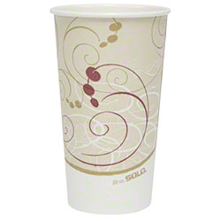 Solo® Symphony™ Single Poly Paper Hot Cup - 20 oz.