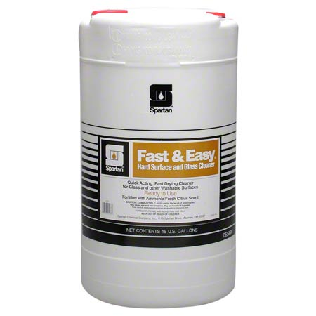 Spartan Fast & Easy® Hard Surface & Glass Cleaner- 15 Gal.