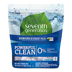 Seventh Generation® Dishwasher Detergent Packs - 45 ct. Pack, Free & Clear