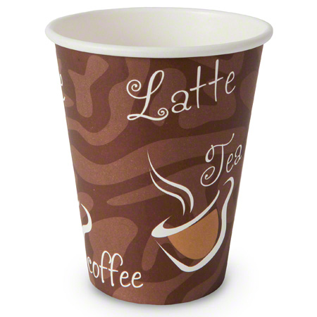 Imex Single Wall Hot Paper Cup w/King Design - 12 oz.