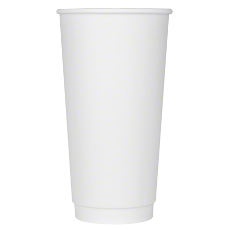 Karat® White Insulated Paper Hot Cup - 20 oz.
