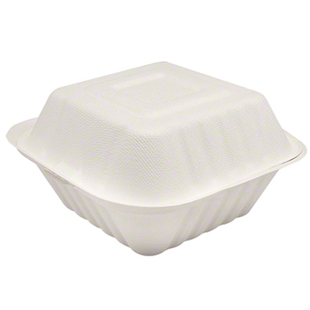 """Karat® Compostable Bagasse Container - 6"""" x 6"""""""