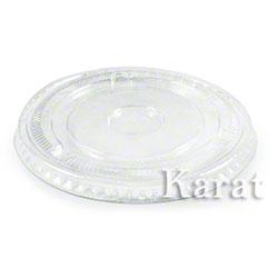 Karat® Clear Flat Lid Fits 12 oz. - 24 oz. PET Cold Cup