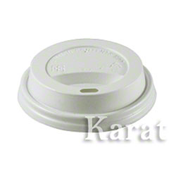 Karat® White Sipper Dome Lid Fits 8 oz. Hot Cup