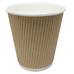 Karat® Kraft Ripple Paper Hot Cup - 12 oz.