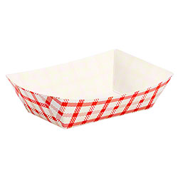 Karat® Paper Food Trays w/Shepherd's Check