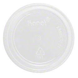Karat® Clear Portion Cup PET Plastic Flat Lids