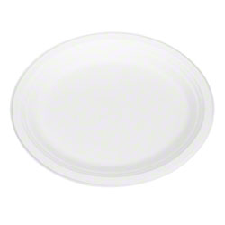 "Karat® Earth® Compostable Bagasse Oval Plate-12.5"" x 10"""