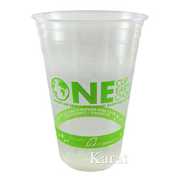 Karat® Earth® PLA Compostable Cups w/Generic Stock Print