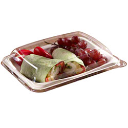 Sabert® Grab-A-Pac® Dome Lid For 8x5.75 Rectangle Tray