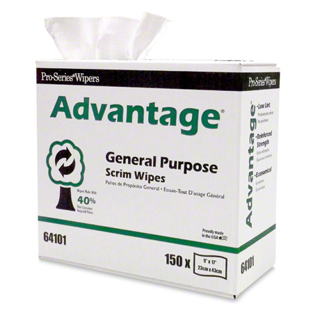 "MDI Pro-Series® Advantage® Scrim Wipes - 9"" x 17"""