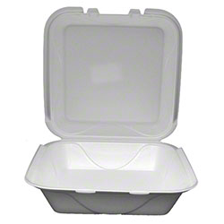 Darnel White Hinged Lid Foam Container - S-1, 1 Cmpt.
