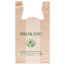 "Inteplast Enviro Printed HD T-Shirt Bag - 11.5"" x 6.5"" x 21"""