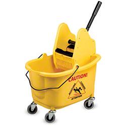 Janico Mop Bucket & Down Press Wringer Combo - Yellow