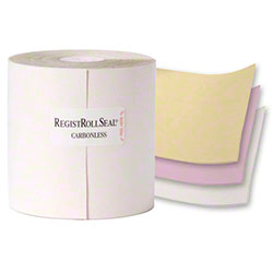 "NCCO REGISTROLLS® - 3"" x 67"", White/Canary/Pink, 3-Ply"