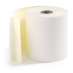 "RiteMade™ Carbonless Roll - 3"" x 90', 2 Ply, White/Canary"